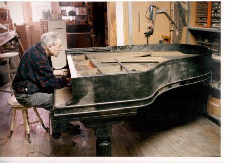 John Yeats restoring a c.1885 Steinway